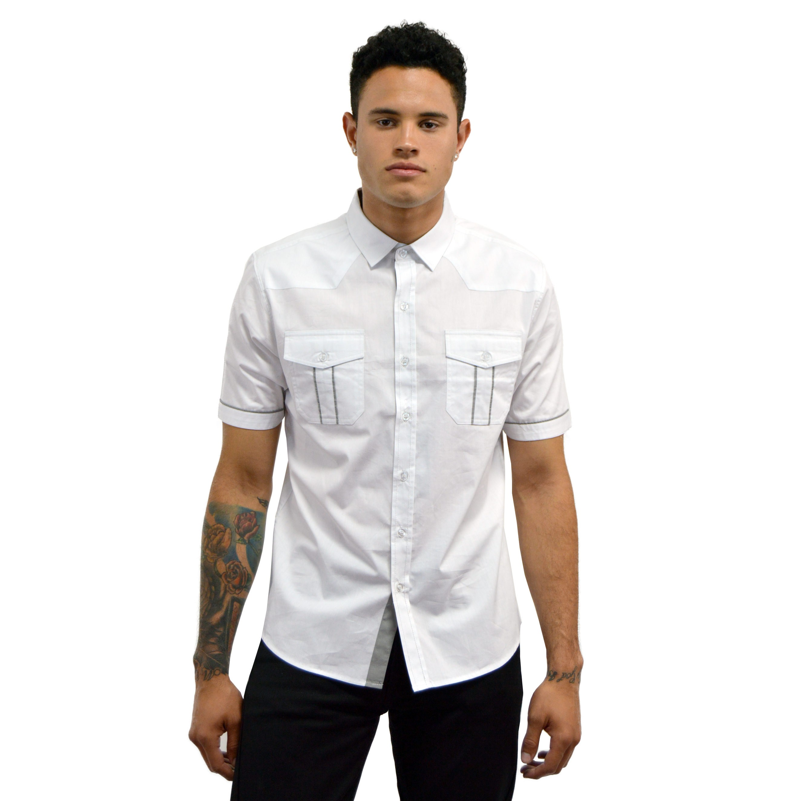 FITTED SHIRT CDMX67 SS WHITE
