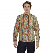 Lux- Laser Print Shirt 57BR47 Yellow