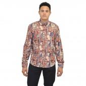 Lux- Laser Print Shirt 57BR53 Brick