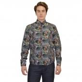 Lux- Laser Print Shirt 57BR55 Black