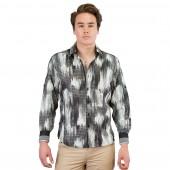 Lux- Laser Print Shirt 57BR57 Ash