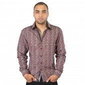 Lux- Laser Print Shirt 57BR59 Red