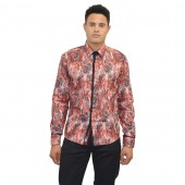 Lux- Laser Print Shirt 57BR63 Deep Red