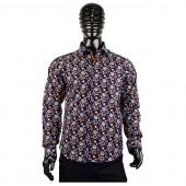 Lux- Laser Print Shirt 57BR71 orange