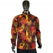 Lux- Laser Print Shirt 57BR75 brown