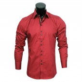 Plain Stretch shirt CD3841 Burgundy