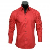 Plain Stretch shirt CD3841  Red