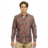 Printed Shirt CD4049 burgundy