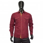 FITTED SHIRT CD4143 BURGUNDY