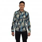 Lux- Laser Print Shirt 57BR51 Tan